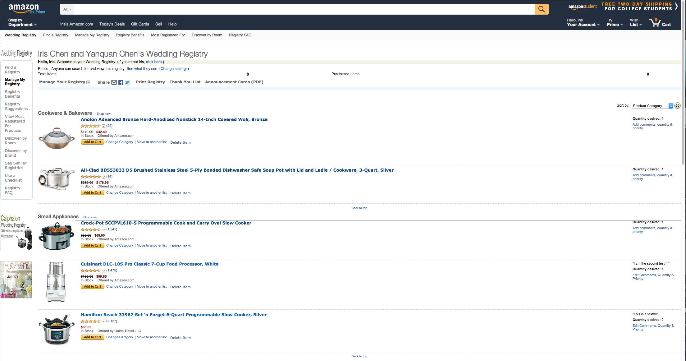 Amazon Wedding Registry Redesign Cross Functional Team Project Ux